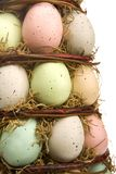 Upclose easter eggs Royalty Free Stock Image