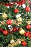 upclose för bakgrundsjultree Royaltyfri Fotografi