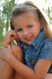 Upclose little girl stock image