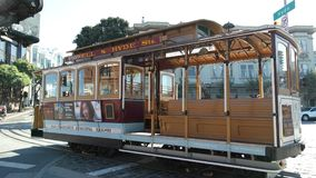 An upclose picture of a tram in San Francisco. USA, taken during a daytrip in the fall Stock Image