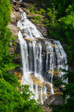 Upclose view of Whitewater falls Royalty Free Stock Photography