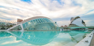 Upcoming Evening meeting at L'hemispheric in Valencia, City of Arts and Sciences. Stock Photos