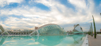 Upcoming Evening meeting at L`hemispheric in Valencia, City of Arts and Sciences. Royalty Free Stock Images