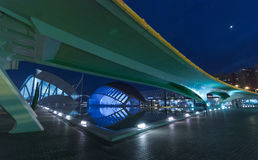 Upcoming Evening meeting at L`hemispheric in Valencia, City of Arts and Sciences. Stock Photography