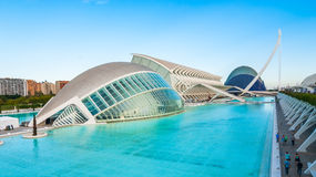 Upcoming Evening meeting at L`hemispheric in Valencia, City of Arts and Sciences. Royalty Free Stock Photos
