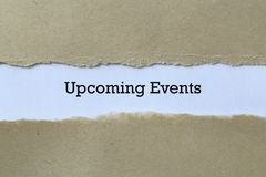 Free Upcoming Events On Paper Royalty Free Stock Images - 168348399