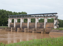 Upcountry floodgate Stock Image