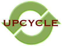 Upcycle με τα ανακύκλωσης βέλη Στοκ Φωτογραφία