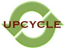 Upcycle met kringlooppijlen Stock Fotografie