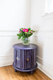 Upcycled Aubergine drum table Royalty Free Stock Photography