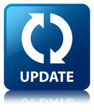 Update blue square button Royalty Free Stock Photos