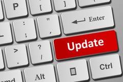 Update button on keyboard stock illustration