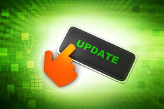 Update button with mouse cursor Royalty Free Stock Photography
