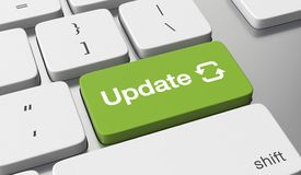 Update button. Update text on keyboard button royalty free illustration