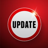 Update button vector red Stock Images