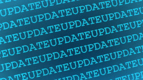 Update computer background. Seamless turquoise background of repeated word update Royalty Free Stock Image