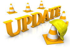Update Cosntruction Site Stock Image