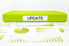 Update documents, graphs, charts and report Stock Photos