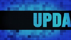 Update Front Text Scrolling LED Wall Pannel Display Sign Board