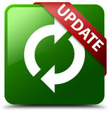 Update green square button Stock Images