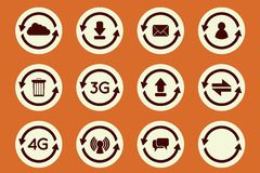 Update icons Stock Photography