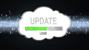 Update information cloud. Download information in the cloud. stock footage