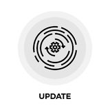 Update Line Icon. Update icon vector. Flat icon isolated on the white background. Editable EPS file. Vector illustration Royalty Free Stock Photos