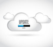 update loading bar cloud illustration Royalty Free Stock Photos