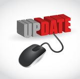 Update mouse message illustration design Stock Photo