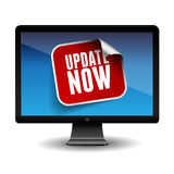Update now label on screen Royalty Free Stock Image