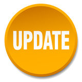 Update orange round flat isolated button Royalty Free Stock Photography