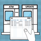 Update a passbook. Vector design for business Royalty Free Stock Photo