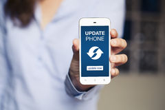 Update phone notice. Royalty Free Stock Image