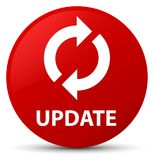 Update red round button Royalty Free Stock Photo