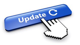 Update Sign And Icon On Web Button Stock Photos