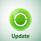 Update sign isolated Royalty Free Stock Photos