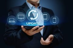 Update Software Computer Program Upgrade Business technology Internet Concept.  Stock Photo
