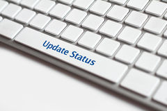 Update status button Royalty Free Stock Photos