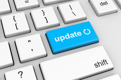 Update Symbol on Computer Keyboard Button Royalty Free Stock Photos