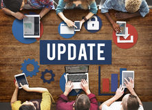 Update Technology Word Graphic Concept Royalty Free Stock Photos
