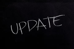 Update Text on Blackboard Royalty Free Stock Image