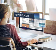 Update Trends Report News Flash Concept Royalty Free Stock Image