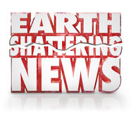 Update van de Informatie van het Nieuws van de aarde de Verbrijzelende Dringende Royalty-vrije Stock Fotografie
