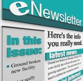 Update van het Nieuws van de Kwestie E-mail van ENewsletter de Waakzame Stock Foto