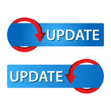 Update Web button set Royalty Free Stock Image