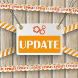 Update Wooden Background Royalty Free Stock Image