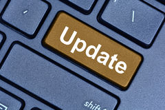 Update word on keyboard button Royalty Free Stock Image
