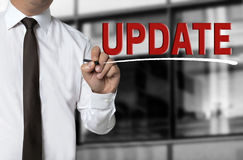 Update is written by businessman background concept Royalty Free Stock Photography