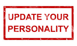 Update your personality stamp. Isolated on white background Royalty Free Stock Image
