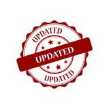 Updated stamp illustration. Updated red stamp seal illustration design Royalty Free Stock Photography